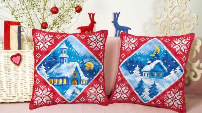 Poduszka Haft Boże Narodzenie