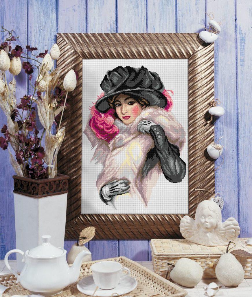 haft-dziewczyna-w-kapeluszu