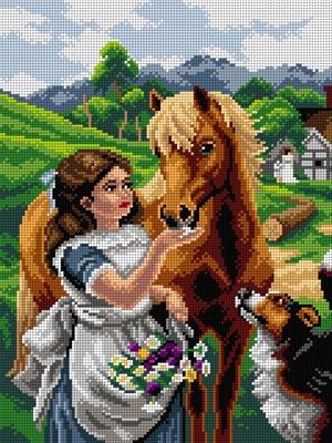 dziewczynka-koń-haft